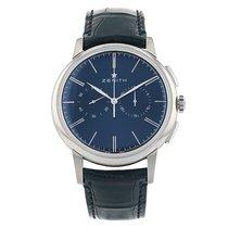 Zenith Elite Chronograph Classic Stahl 42mm Blau Keine Ziffern