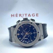 Hublot Classic Fusion Blue occasion 45mm Bleu Chronographe Date Cuir de crocodile
