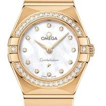 Omega Constellation Quartz Желтое золото 25mm Перламутровый