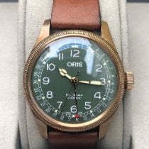 Oris Big Crown Pointer Date Bronze 40mm Green Arabic numerals United States of America, New York, Larchmont