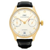 IWC Rose gold Automatic Silver Arabic numerals 42mm pre-owned Portuguese Automatic