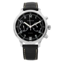 Longines Heritage pre-owned 42mm Black Leather