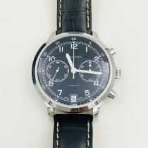 Longines Heritage pre-owned 42mm Black Chronograph Leather