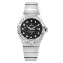 Omega White gold Automatic Black 31mm new Constellation
