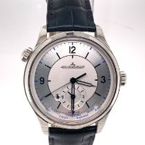 Jaeger-LeCoultre Master Geographic Acero 39mm Plata Arábigos