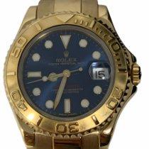 Rolex Yacht-Master Yellow gold 35mm Blue No numerals