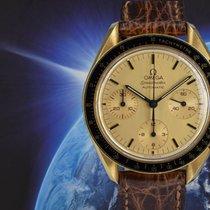 Omega Speedmaster Reduced gebraucht 39mm Gold Chronograph Dornschließe