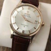Omega Constellation pre-owned 34.5mm Silver Chronograph Leather