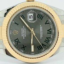Rolex Datejust II Gold/Steel 41mm Grey Roman numerals UAE, Sharjah