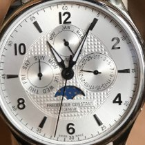 Frederique Constant Runabout Moonphase Steel 46mm Silver Arabic numerals United States of America, Vermont, Poultney