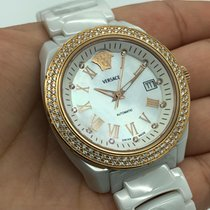 Versace Ceramic Automatic Mother of pearl 40mm pre-owned