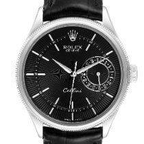 Rolex Cellini Date White gold 39mm Black