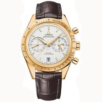 Omega Yellow gold Automatic Silver 42mm new Speedmaster '57