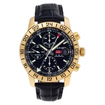 Chopard Rose gold Automatic Black No numerals 42mm pre-owned Mille Miglia
