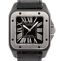 Cartier Titan Automatik Schwarz Römisch 50mm gebraucht Santos 100