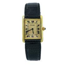 Cartier Tank Vermeil Желтое золото 23mm Желтый Римские