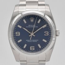 Rolex Oyster Perpetual 34 Acero 34mm Azul Arábigos