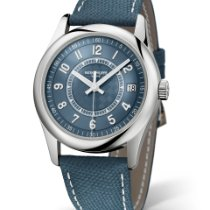 Patek Philippe Calatrava Steel 40mm Blue Arabic numerals