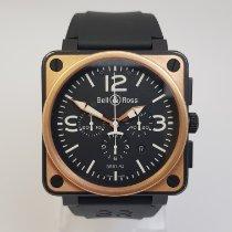 Bell & Ross BR 01-94 Chronographe Roségold 46mm Schwarz Arabisch
