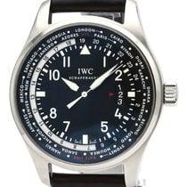 IWC Fliegeruhr Worldtimer Stahl 45mm Schwarz