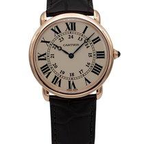 Cartier Roségold Handaufzug Weiß Römisch 36mm gebraucht Ronde Louis Cartier