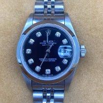 Rolex Oyster Perpetual Lady Date Сталь 26mm Черный