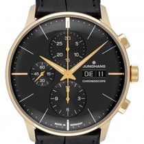 Junghans Rose gold Automatic Grey 40.7mm new Meister Chronoscope