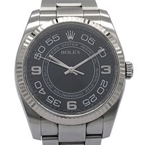 Rolex Oyster Perpetual pre-owned 36mm Black Steel