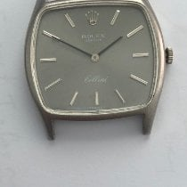 Rolex Cellini ROLEX  CELLINI 3805 18K. WHITE GOLD. CALIBER 1600 CASE 31 MM WIDTH DARK GRAY DIAL Sehr gut Weißgold 31mm Handaufzug