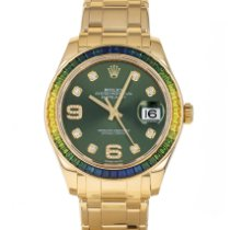 Rolex Pearlmaster Yellow gold 39mm Green Arabic numerals