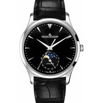 Jaeger-LeCoultre Master Ultra Thin Moon Steel 39mm Black No numerals