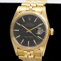 Rolex Rolex Datejust 16018 18K Gold Black Dial Circa 1982 Yellow gold 1982 Datejust pre-owned United States of America, Illinois, Wheaton