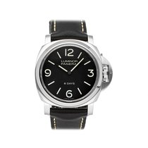 Panerai Luminor Base 8 Days usados 44mm Negro Piel