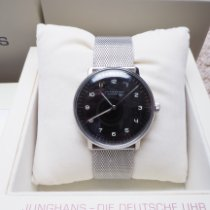 Junghans Steel Automatic Black Arabic numerals 38mm pre-owned max bill Automatic