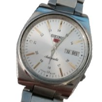 Seiko 5 Steel 40mm Silver (solid) Arabic numerals United States of America, Texas, Gladewater