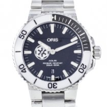 Oris Steel 43.5mm Automatic 01 743 7734 4184 new