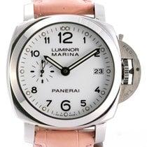 Panerai Luminor Marina 1950 3 Days Automatic gebraucht 42mm Weiß Datum Leder