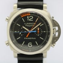 Panerai Luminor 1950 Regatta 3 Days Chrono Flyback Titanium 47mm Zwart Arabisch