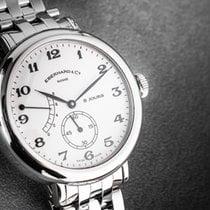 Eberhard & Co. 8 Jours Steel 40mm White Arabic numerals