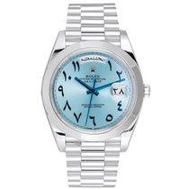 Rolex Day-Date 40 Platinum 40mm Blue Arabic numerals United Kingdom, London