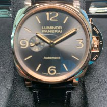 Panerai Rose gold Automatic Grey 45mm new Luminor Due