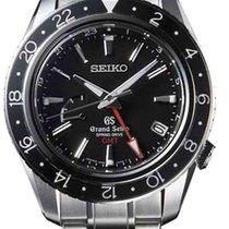 Seiko Grand Seiko pre-owned 44mm Black Date GMT Steel