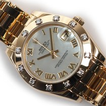 Rolex Pearlmaster Yellow gold 34mm Mother of pearl Roman numerals