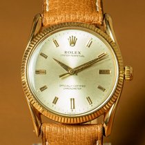 Rolex Rose gold Automatic Champagne No numerals 33,5mm pre-owned