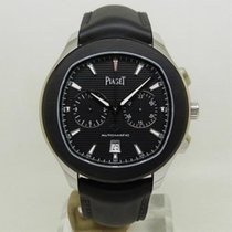 Piaget Polo S pre-owned 42mm Black Chronograph