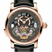 Montblanc Red gold Automatic Black Arabic numerals 43mm new Nicolas Rieussec