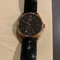 Rolex Cellini Dual Time Rose gold 39mm Black No numerals