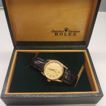 Rolex Yellow gold Automatic Champagne No numerals 33mm pre-owned Oyster Perpetual