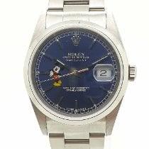 Rolex Datejust Сталь 36mm Синий Без цифр