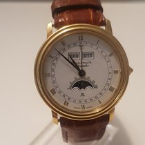 Blancpain Villeret Moonphase occasion 34mm Blanc Phase lunaire Date panorama Date